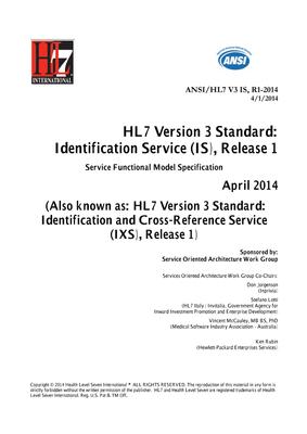 HL7 Standards Product Brief - HL7 Version 3 Standard ...