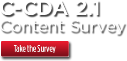 Take the C-CDA 2.1 Content Survey