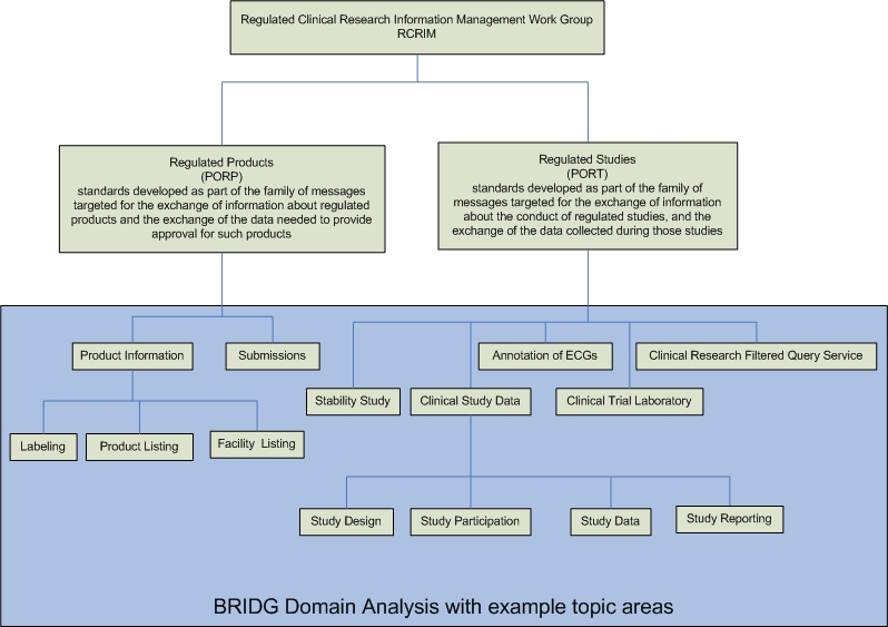 RCRIM BRIDG Domain Analysis with example topic areas